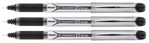 Pilot Hi-Tecpoint V5 Grip Penna stick a sfera Nero 3pezzo(i)
