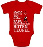 Shirtgeil Kaiserslautern - Papa machte Mich zum Roten Teufel Baby Body Kurzarm-Body 3-6 Monate Rot