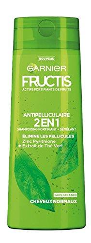 Garnier Fructis Color Resist - Champú fortificante anticaspa 2en 1para cabello normal, 250ml, 4 unidades