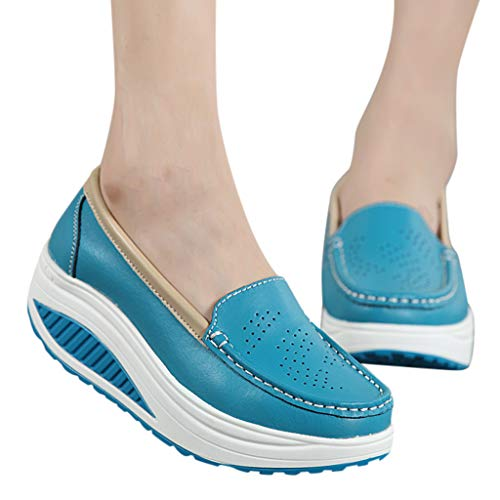 Affordable Dainzuy Women's Slip On Breathable Walking Shoes Comfort Wedge Platform Sneakers Working ...