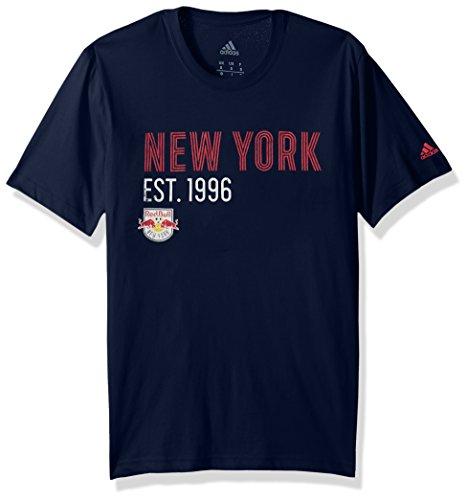 MLS Herren T-Shirt Los Angeles Galaxy, Tri-Line, Premium-Baumwolle, XXL, Collegiate Navy