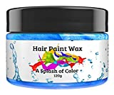 Hair Paint Wax A Splash Of Color - Blue (120 Gram) | Environmentally Friendly Temporary Unisex Natural Hair Paint | Easy To Use and Suitable For Most Hair Types