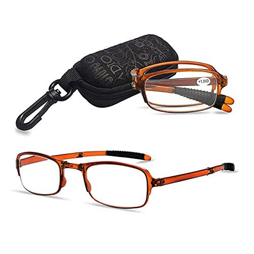 VEVESMUNDO Gafas de Lectura Plegables Hombre Mujer Compactas Presbicia Vista Leer con...