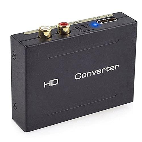 Joliy El convertidor de extracción de Audio admite 1080P Compatible con HDMI 2.0 a Compatible con HDMI + Audio + SPDIF + L/R