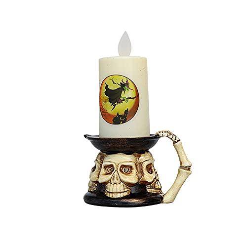 Vin Beauty Farolillo de velas LED de calabaza de Halloween, sin llama de la luz de Halloween Props para el juguete del regalo de los niños