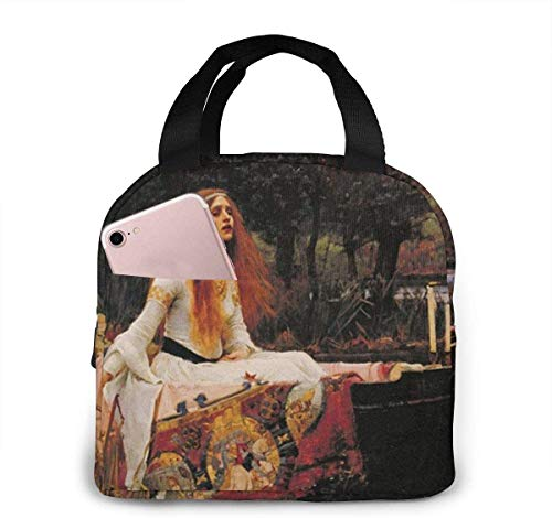 The Lady Of Shalott - Bolsa de almuerzo para mujeres,niñas,niños,bolsa de picnic aislada,bolsa gourmet,bolsa cálida para el trabajo escolar,oficina,camping,viajes,pesca
