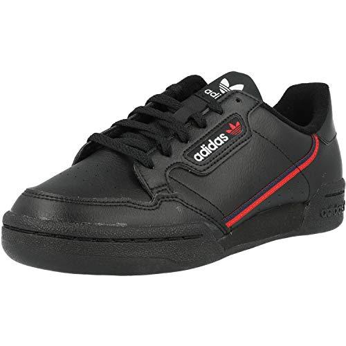 Adidas Continental 80 J, Zapatillas de Deporte Unisex Adulto, Negro (Negbás/Escarl/Maruni 000), 38 2/3 EU