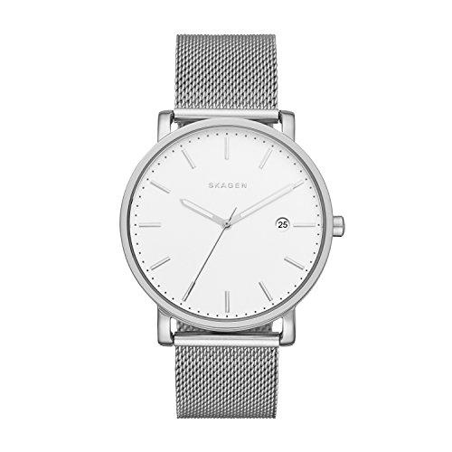Skagen Herren Analog Quarz Uhr mit Edelstahl Armband SKW6281
