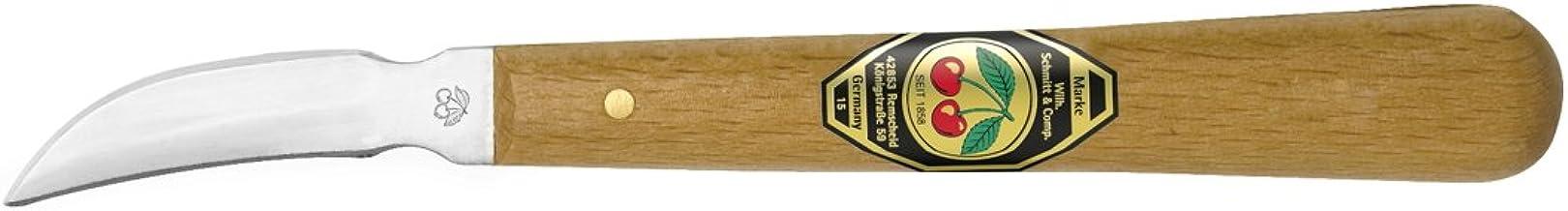 Kirschen 3353000 nóż do rzeźbienia z drewnianym uchwytem, brązowy/srebrny