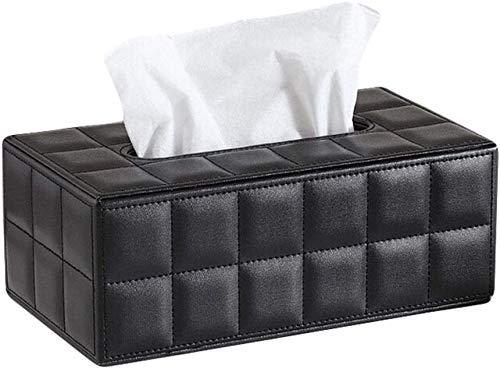 N/D Tissue Box Cover Rectangular PU Leather Tissue Holder,Decorative Tissue Box Holder Storage Box Decorative Tissue Organizer Suitable Multifunctional for Home/Office/Car/Restaurant
