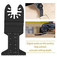 振動鋸振動マルチツール耐久性のあるマルチツール鋸刃ブラック(軟質金属用)