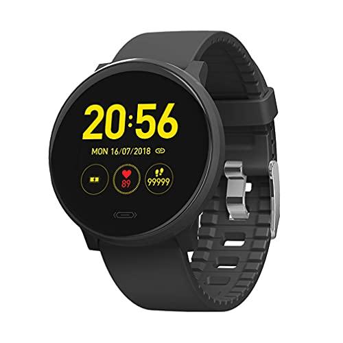 Smart Watch for Men Mujer, IP67 50M Trucidador De Actividad Impermeable con Ritmo Cardíaco Presión Arterial Seguimiento De Oxígeno De Sangre, Smartwatches Sleep Monitor para Android Y iOS,Negro