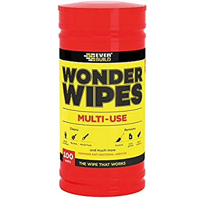 Wonder Wipes Multi-Use Cleaning Wipes, 100 Wipes by Sika Everbuild