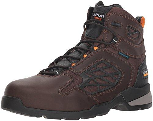 """Ariat Work Men's REBAR FLEX 6"""" H2O Composite Toe Boot, dark brown, 11 D US"""