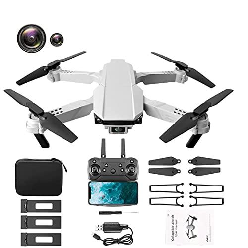 J-Clock Drone 4K, Mini Aereo telecomandato Pieghevole Multi-Ala a Quattro Assi, 60 Minuti di Durata della Batteria, Tre batterie, con Memoria