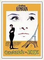 ポスター アーティスト不明 オードリー・ヘプバーン パリの恋人 額装品 ウッドベーシックフレーム