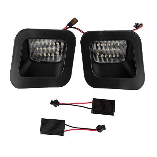 Auto kentekenverlichting, 2 stuks LED auto achterbumper kentekenverlichting Lamp LED licentie licht auto accessoire Geschikt voor Dodge Ram(Wit licht zwarte basis)