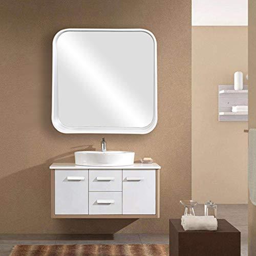 Miroir Mural Art Table Miroir Peut Cadre en Bois Blanc Magasin Adapté À La Vie Salle De Bain, Dortoir Utilisation Z1220