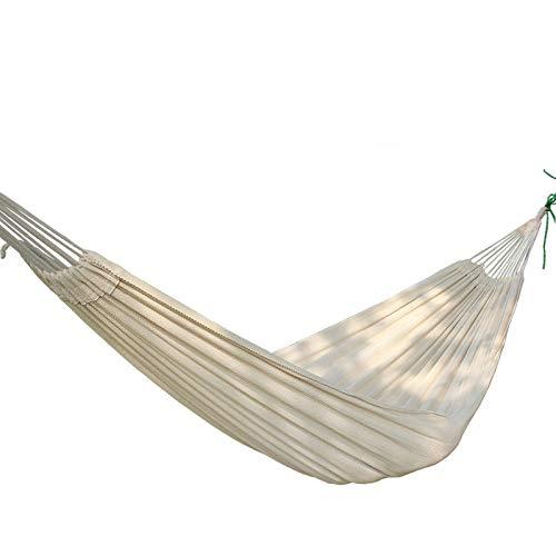 HCCX Al aire libre de ocio Portátil Camping Jardín Playa de Viaje hamaca de algodón grueso hamaca doble hamac swing cama