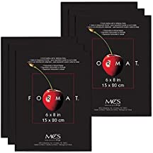 MCS 6x8 Inch Format Frame 6-Pack, Black (65641)