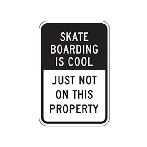 BRILLON Skateboarden is Cool Sign - 8x12 inch
