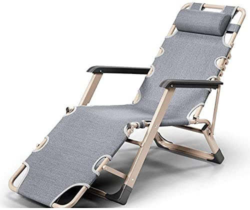 Reclinable Plegable Acolchado De Textoline Sun Lounger Cama Piscina/Reclinable Al Aire Libre para Jardín Camping Al Aire Libre Patio Playa Pesca Recliner Silla-9 Portátil