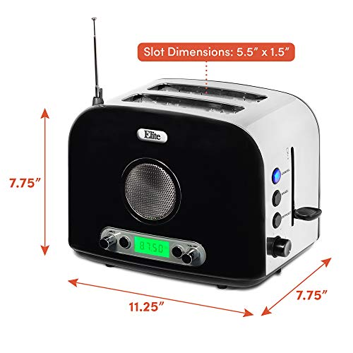 Product Image 6: Maxi-Matic ERT-6067 Long Cool Touch 4-Slice Toaster Extra Wide 1.25″ Slots for Bagels Waffles, 2, White