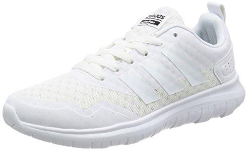 adidas Cloudfoam Lite Flex W - Zapatillas de Deporte para Mujer, Blanco - (FTWBLA/FTWBLA/Negbas) 37 1/3