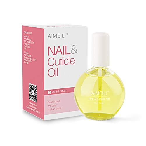 AIMEILI Nail et Cuticle Oil Huile de Traitement pour Cuticules et Ongles Manucure 75ml