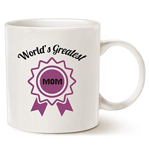 N\A Día de la Madre, la Mejor Taza de café para mamá, la Mejor mamá del Mundo, mamá, mamá, mamá, Blanco, 11 oz