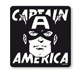Logoshirt Posavasos Capitán América - Retrato - Marvel Comics - Coaster Captain America - Portrait - Superhéroe - Diseño Original con Licencia