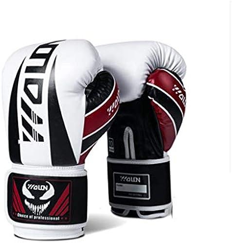Gants de boxe générale épaissie professionnelle combats Gants Sanda Muay Thai gants d'entraîneHommest au combat Divers gants (Couleur   noir, Taille   10oz)