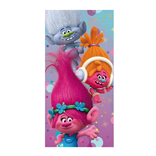 Artesanía Cerdá-2200002148 Toalla playa algodón, diseño Trolls, talla única (2200002148)