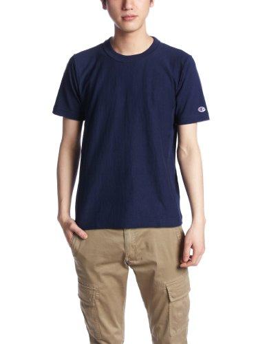 [チャンピオン] Tシャツ 綿100% ワンポイントロゴ リバースウィーブ ショートスリーブTシャツ C3-X301 メンズ ネイビー S