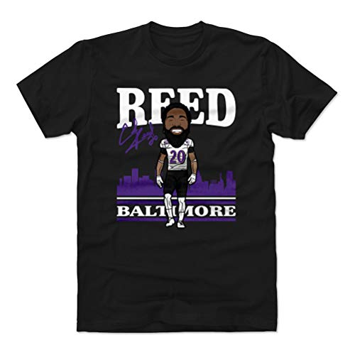 500 LEVEL Ed Reed Shirt (Cotton, X-Large, Black) - Baltimore Men's Apparel - Ed Reed Toon P WHT