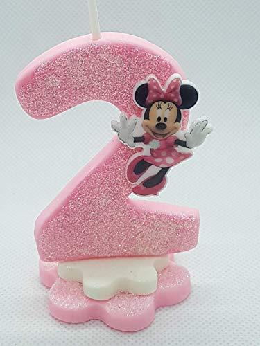 Vela decorada porcelana fría Inspirada en Mouse rosaCumpleaños tarta