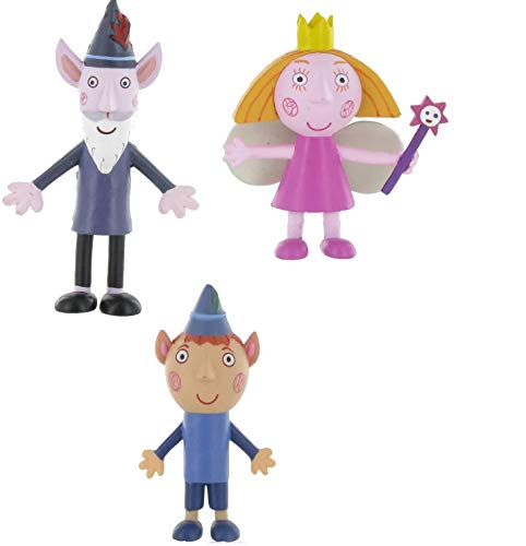 Comansi Lote 4 Figuras Benn & Holly - Princesa Holly - Ben Elfo - Viejo Sabio - Nanny