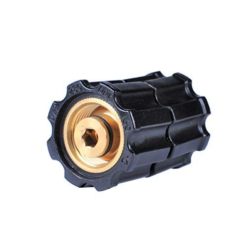 YAMATIC Pressure Washer Hoses Connection Stabilizer Adapter, M22-14mm Female x M22-14mm Female Fitting Up to 5000 PSI