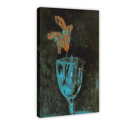 Pablo Picasso Ölgemälde A Blue Vase Symbolismus Leinwand Poster Schlafzimmer Dekor Sport Landschaft Büro Zimmer Dekor Geschenk 60 × 90 cm Rahmen style1