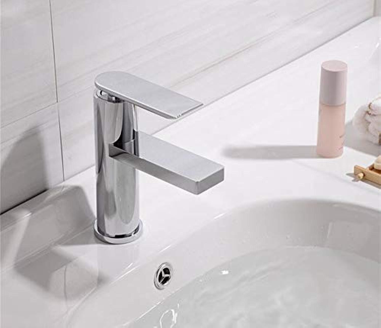 AXWT Nordic Drawing Gold Wasserhahn Kaltwasser Wasserbassin Wasserhahn Einlochmontage Einhand-Bad Hotel Waschen Sie Ihr Gesicht Alle Bronze-Armaturen (Farbe   Chrome)
