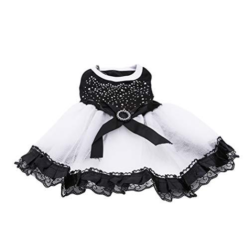 AMURAO Brautkleider für Hunde Bow Tutu Prinzessin Puppy Kleidung Breathable Party Formal Lace Pet Bekleidung