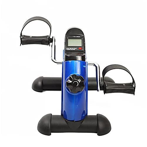 GJQDDP Mini Cyclette, Attrezzo Ginnico Portatile A Pedale con Display Elettronico E Impugnatura, Bicicletta Fitness Indoor per Allenamento di Riabilitazione degli Anziani