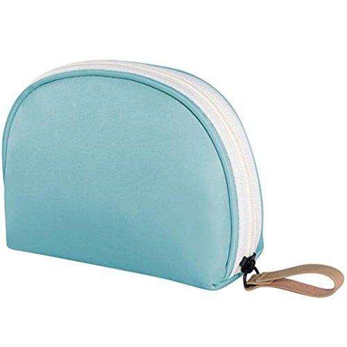 HUIJU Voyage Simple Sac cosmétique Sac de Rangement cosmétique Femelle Corée Petit Paquet Portable Portable Imperméable à L'eau Mini, Blue - big