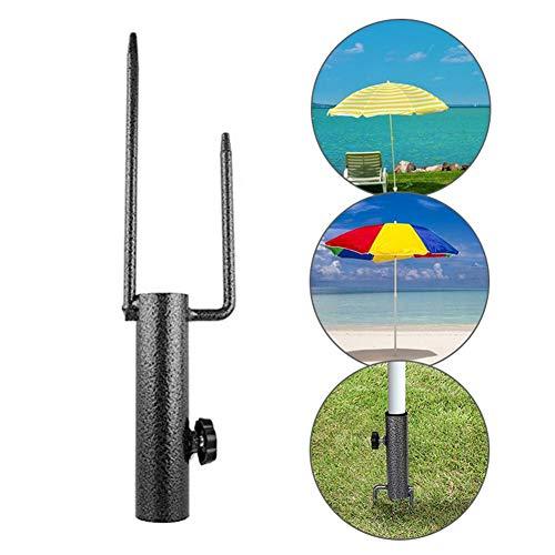 iBoosila Umbrella Ground Plug. Stall Umbrella Metal Ground Plug Hochleistungs-Regenschirmanker Tragbare Regenschirm-Grundhalterung Yard Umbrella Steel Anchor Drill Frame