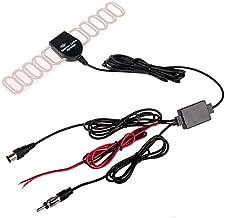 Car Digital TV Tuner DVBT ATSC ISDB Radio FM Antenna Aerial Signal Amplifier Booster for Car Dash DVD Head Unit Stereos (IEC with Radio Plug) by HitCar