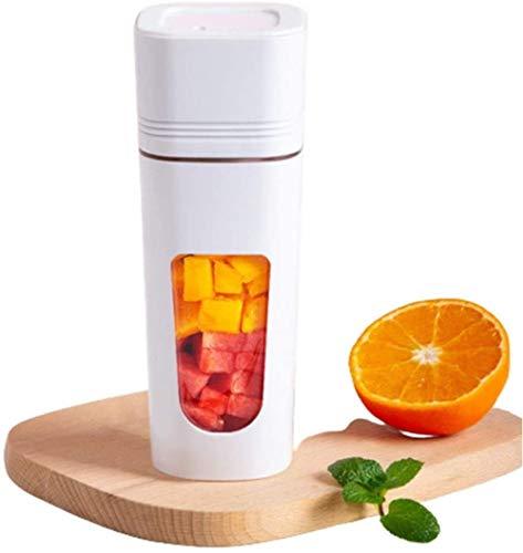 Mini batidor de smoothies Tritan Bpa 350 ml, ideal para batidos, batidos de leche, pachos, helados compactos y triturados, frutas en cubitos, azul,blanco