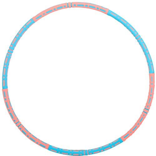 YSKJ Fitness Hoop Reifen Hula Reifen Erwachsene für Gewichtsabnahme und Massage, Abnehmbarer Rostfreier Stahl Exercise Hoop für Fitness, Zuhause und BüRo Körperformung, Einstellbares Gewicht