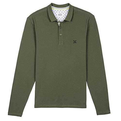 OxbOw M2NIROS Polo Manches Longues Homme, Vert (Vétiver), XL
