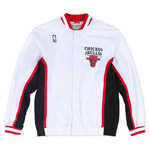 Mitchell & Ness M&N Authentic Warm Up Jacket Chicago Bulls 1992-93 - Chaqueta (talla XXL), color blanco