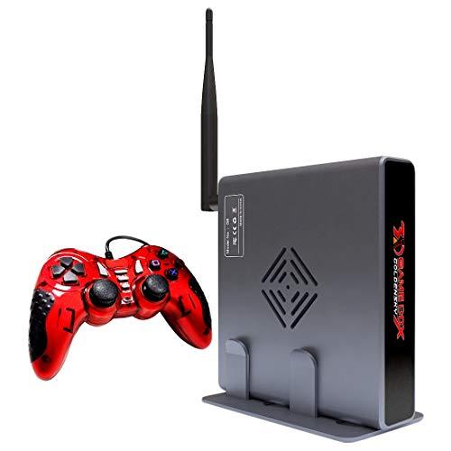 Perezy 4K HDMI TV Juegos AnfitrióN Hodt Consola de Videojuegos 3D MáQuina Construida en 2000 Juego Gratis con WiFi Admite Todo el Emulador de Juegos 10000+ Juego-EU Plug